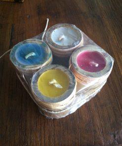 κηροπήγιο από μπαμπού με τέσσερα κεριά