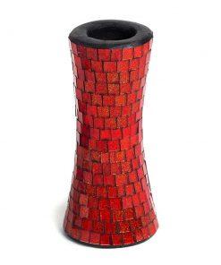 ψηφιδωτό κηροπήγιο από μωσαϊκό χρωματιστού γυαλιού