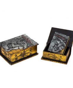 σετ από ξύλινα κουτιά με μορφή Βούδα