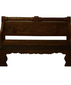 τριθέσιος καναπές κρεβάτι από ξύλο τικ