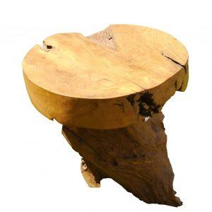 στρόγγυλο τραπέζι από ρίζα τικ