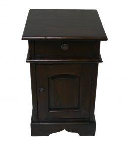 ξύλινο κομοδίνο με συρτάρι και ντουλάπι