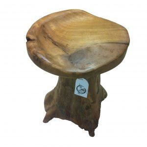 """ξύλινο σκαμνάκι """"μπολ"""" από ρίζα τικ"""