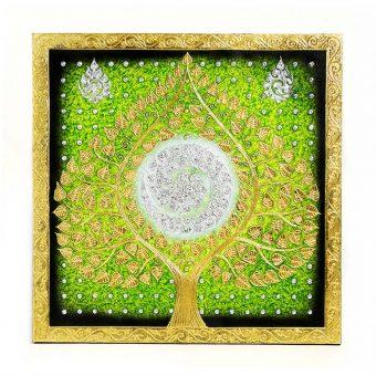 ελαιογραφία με φύλλα χρυσού