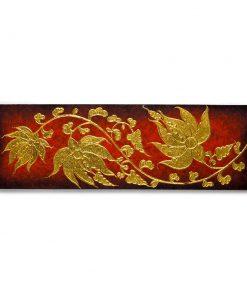 ελαιογραφία διακοσμημένη με φύλλα χρυσού