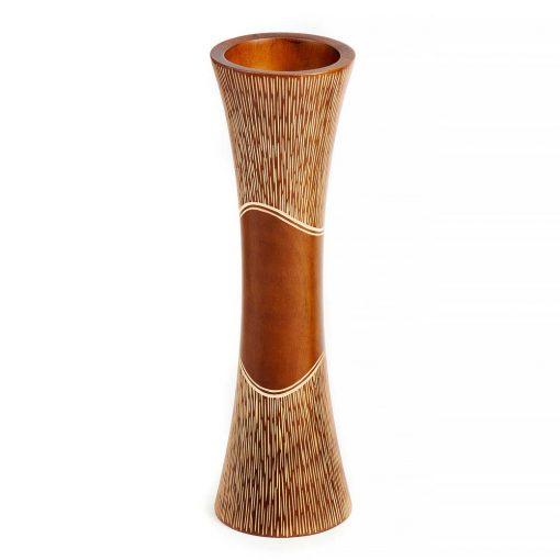 σκαλιστό βάζο από ξύλο μάνγκο