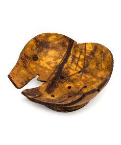 ξύλινη, χειροποίητη σαπουνοθήκη σε σχήμα ελέφαντα
