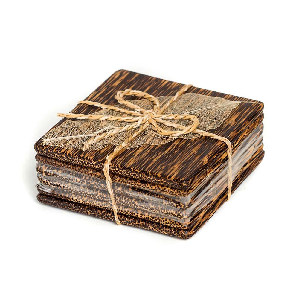τετράγωνα σουβέρ από ξύλο φοίνικα