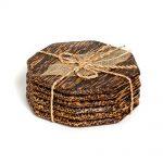 πολύγωνα σουβέρ από ξύλο φοίνικα