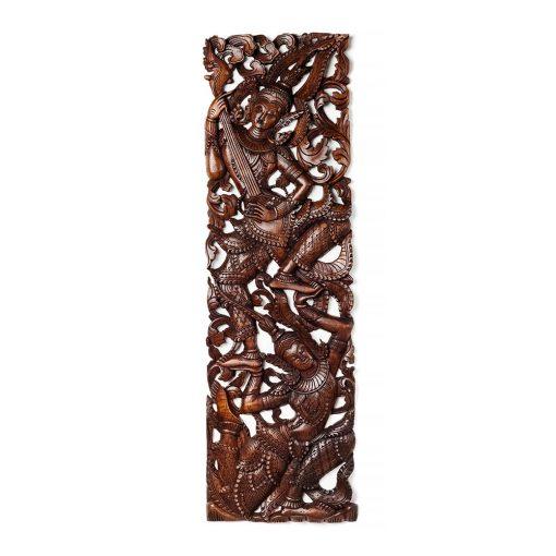 διακοσμητικός κρεμαστός πίνακας από ξύλο τικ