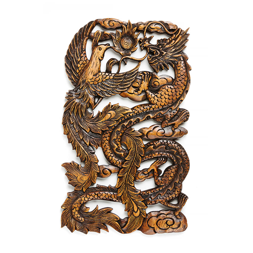 Wooden wall carvings