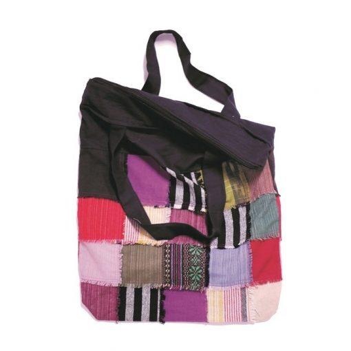 μεγάλη τσάντα patchwork