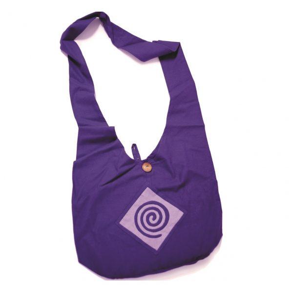 τσάντα ώμου με σχέδια γιόγκα lrg