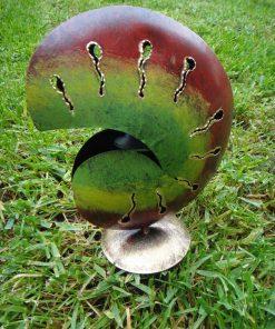 μεταλλικό κηροπήγιο σε σχήμα κοχυλιού