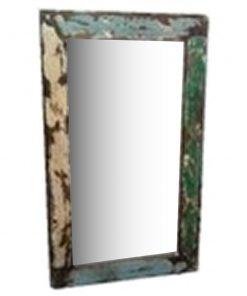 πολύχρωμος καθρέφτης από ξύλο βάρκας