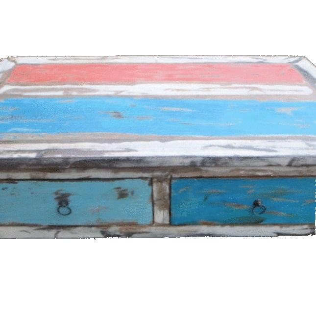 τραπέζι σαλονιού από ξύλο βάρκας με τέσσερα συρτάρια