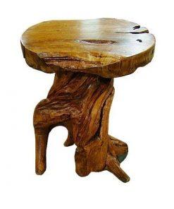 στρόγγυλο τραπέζι από ρίζα