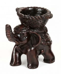 άγαλμα που αναπαριστά ένα ελέφαντα με καλάθι