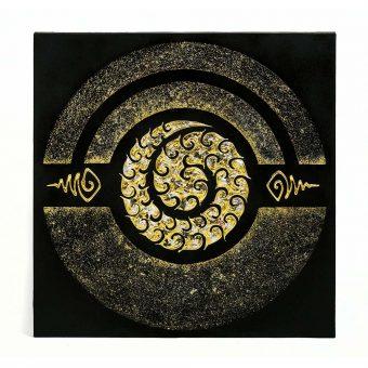 παραδοσιακός πίνακας με φύλλα χρυσού