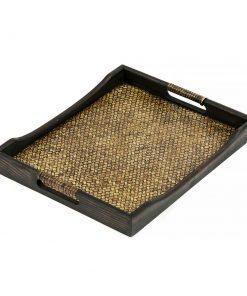 ξύλινος δίσκος σερβιρίσματος από μπαμπού καιμάνγκο