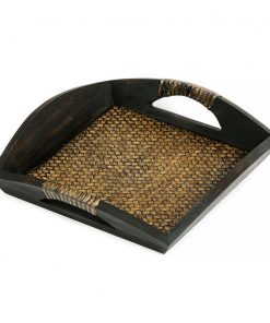 δίσκος σερβιρίσματος από ξύλο μάνγκο με πλέξη από