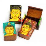 ξύλινο κουτάκι αποθήκευσης με Βούδα