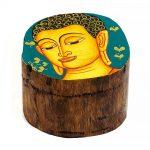 03021212a – Ξύλινο κουτάκι με Βούδα