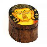 03021212c – Ξύλινο κουτάκι με Βούδα