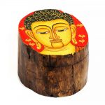03021212d – Ξύλινο κουτάκι με Βούδα