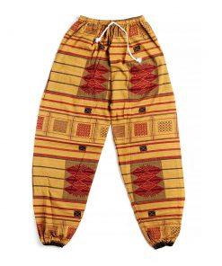 κόκκινη κίτρινη αντρική παντελόνα
