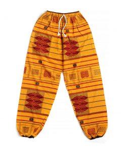 μπορντό κίτρινη αντρική παντελόνα