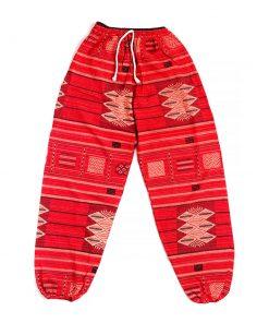 κόκκινη αντρική παντελόνα