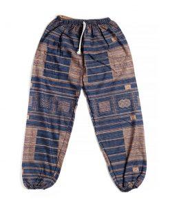 καφέ μπλε αντρική παντελόνα