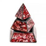03021214c – Πυραμίδα κουτί κόκκινο