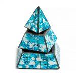 03021214f – Πυραμίδα κουτί γαλάζιο