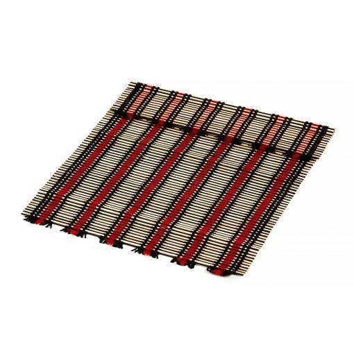 σουπλά από μπαμπού με κόκκινο και μαύρο πλέξιμο