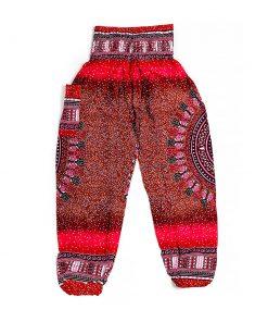 κόκκινη παντελόνα παραλίας με σχέδια