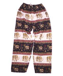 μαύρη παντελόνα με γραμμές και ελεφαντάκια