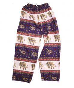 μωβ παντελόνα με γραμμές και ελεφαντάκια