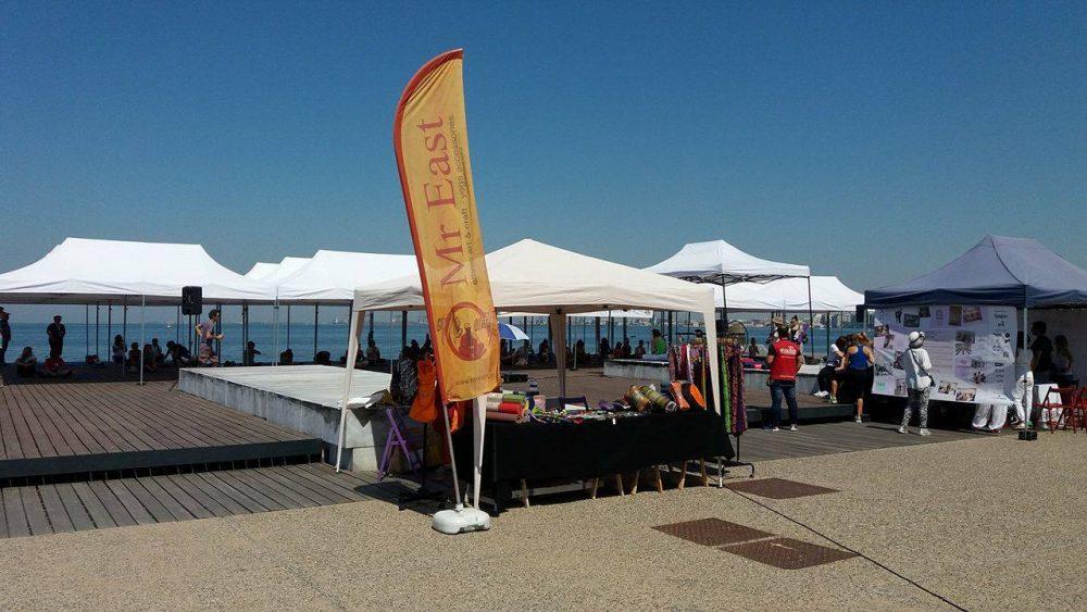 εκδήλωση για την παγκόσμια μέρα γιόγκα 2017 στην Θεσσαλονίκη