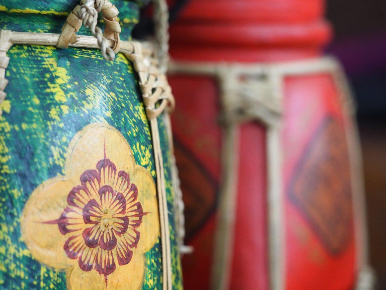 παραδοσιακά κουτιά ρυζιού από μπαμπού της Ταϊλάνδης