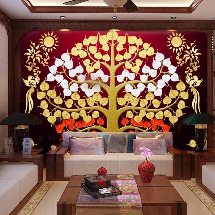 διακόσμηση με φύλλα χρυσού στην Ταϊλάνδη σε πίνακες ζωγραφικής