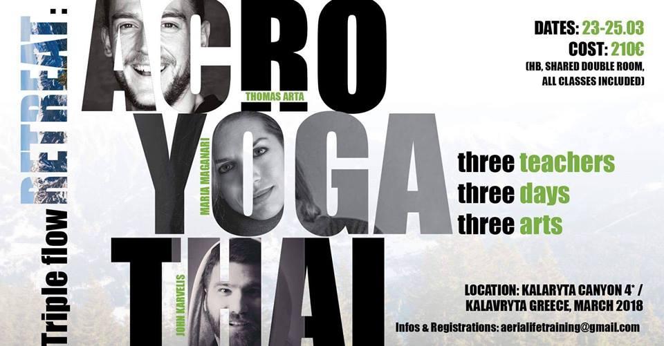 Triple Flow retreat με Acro, Yoga και Thai