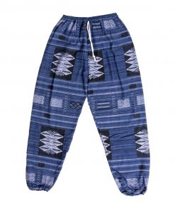 μπλε μωβ αντρική παντελόνα